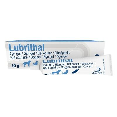 Lubrithal Moisturising Lubricating Opthalmic Eye Gel for Cats and Dogs 10g Tube