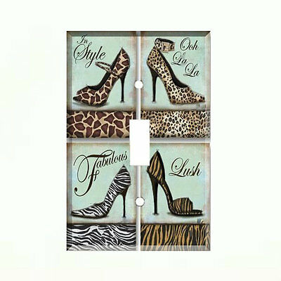 Fancy Shoes Light Switch Plate Wall Cover High Heels