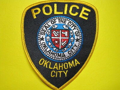 Oklahoma Oklahoma City Police Patch Shoulder Size