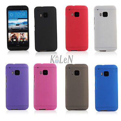 Ultra Slim Frosted Matte Soft Gel TPU Silicone Skin Case Cover For HTC One M9