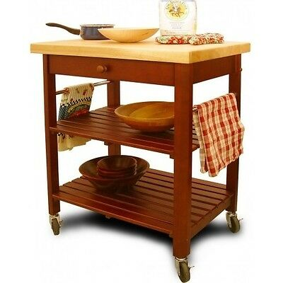 kitchen island cart wood rolling utility table shelves top storage