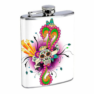 Skull Flask D53 8oz Stainless Steel Scary Horror Death Frightening