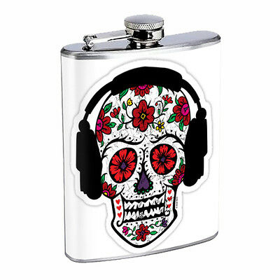 Skull Flask D77 8oz Stainless Steel Scary Horror Death Frightening