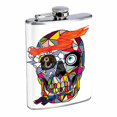Skull Flask D78 8oz Stainless Steel Scary Horror Death Frightening