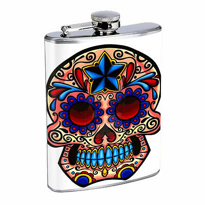 Skull Flask D80 8oz Stainless Steel Scary Horror Death Frightening