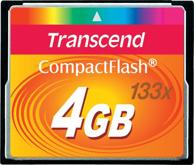 Transcend 133X (4GB) CompactFlash Card