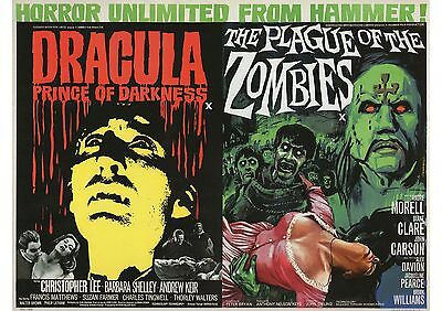 Dracula Darkness/Plague of Zombies - Christopher Lee- A4 Laminated Mini Poster