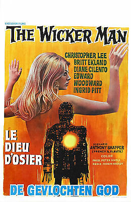 The Wicker Man (3) - Christopher Lee - A4 Laminated Mini Poster