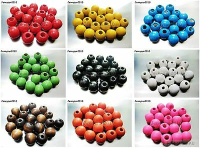 100 pcs Round Wood Ball Spacer Loose Beads 4mm 6mm 8mm 10mm 12mm 14mm 16mm Pick