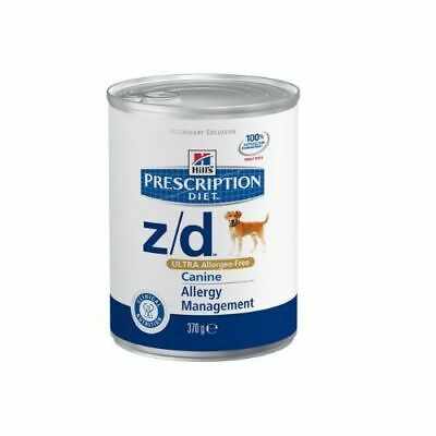 Hills Prescription Diet Canine Z/D Ultra Allergen Free Wet Dog Food 12x370g Tins