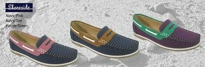 FREE SHIPPING Lady Deck Shoes  Loathers Ladies Seafarer Yachtsman Deck Shoes
