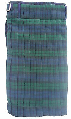 Men's Scottish Traditional Highland Blackwatch Acrylic Tartan Kilt 5yards 13oz
