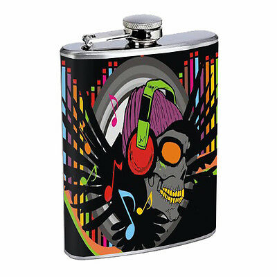 Skull Flask D96 8oz Stainless Steel Scary Horror Death Frightening