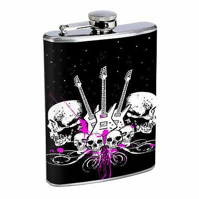 Skull Flask D97 8oz Stainless Steel Scary Horror Death Frightening