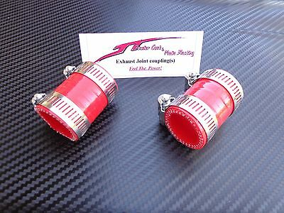 (Red) Yamaha Banshee Quad exhaust pipe clamps all years fmf,dg, factory ATV