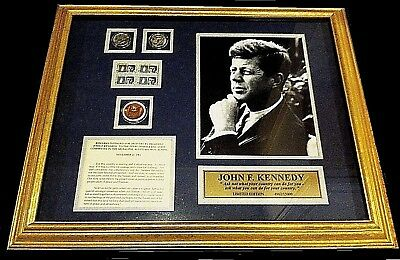 JOHN F KENNEDY Framed COLLECTION 35th President of the United States LIMITED #d