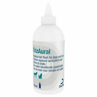 TrizAural Antibacterial Ear Cleanser Solution Crystals for Dogs and Cats