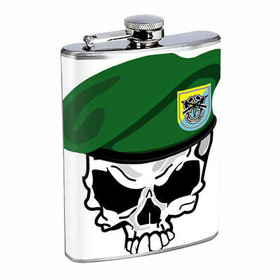 Skull Flask D103 8oz Stainless Steel Scary Horror Death Frightening
