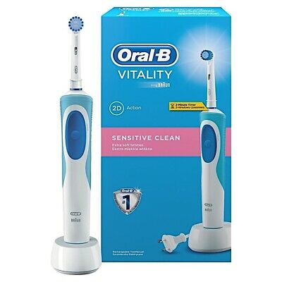 Braun Oral-B Vitality Sensitive Clean Rechargeable Electric Power Toothbrush New