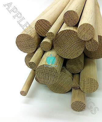 1 pc 1 Dia Oak Dowel Rod 36 Inches (25.4 x 914mm) Long Imperial Size