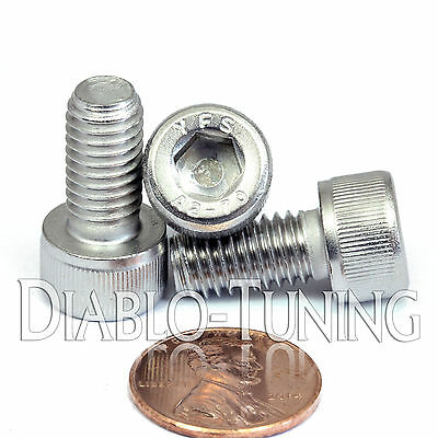 M8 - 1.25 x 16mm - Qty 10 - A2 Stainless Steel SOCKET HEAD CAP Screws - DIN 912
