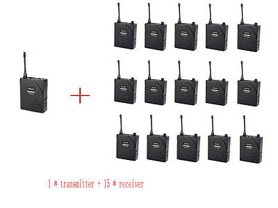 Wireless Assistive Listening Tour Guide System translation systems 15 Receivers