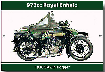 ROYAL ENFIELD 976cc V-TWIN SLOGGER ENAMELLED METAL SIGN.MOTORCYCLES.