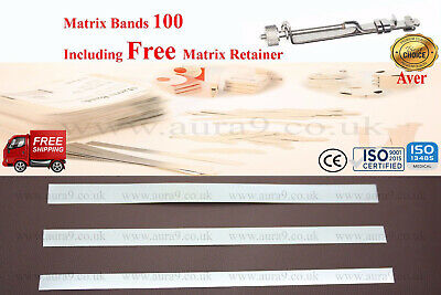 Dental Matrix Bands Siqveland 100 Bands Free Retainer Worldwide Stainless Steel