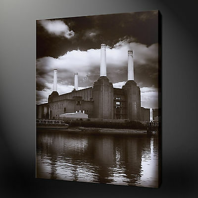 BATTERSEA POWER STATION LONDON CANVAS WALL ART PICTURES PRINTS 30 x 20 Inch