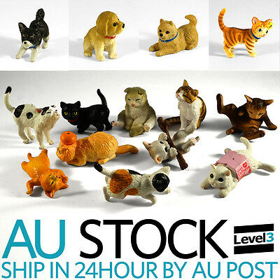 Cat Dog Animal Pets Kids Toy Model Figurine Figure Gift Accessory collectible AU