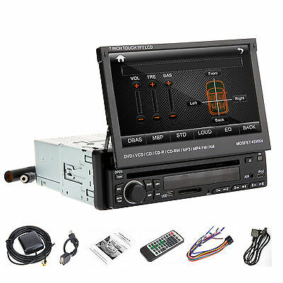 "In-Dash 7"" Flip-Out Touch screen DVD/MP3/USB Car Stereo Radio Player FM 1Din"