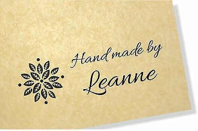 Flower Stamp - Personalised Clear Rubber  Craft Stamp 40mm x 20mm