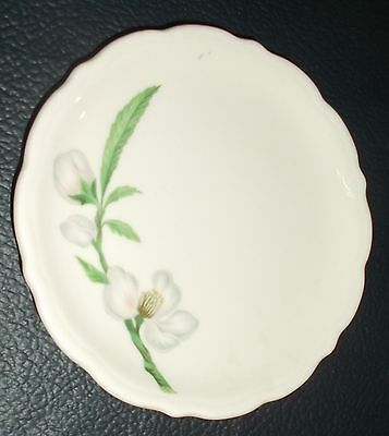 Vintage Syracuse China Made in USA Saucer with Delicate Cherry Blossoms