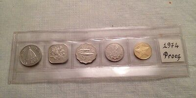 1974 Commonwealth Of The Bahamas Proof Coin Set