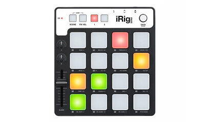 IK Multimedia iRig Pads Midi Pad Portable Groove Controller for iOS & USB - B...