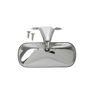 Ford Pickup Truck Inside Rear View Mirror Assembly - Stainless Steel - With