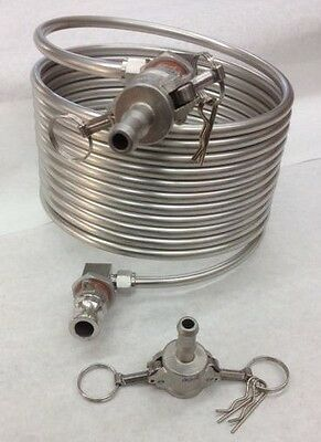 Herms Coil 25' With Fittings & Quick Disconnects Brew Kettle