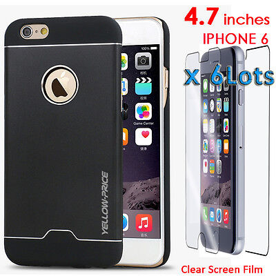 Ultra thin Aluminum Metal Case for iPhone 6 Screen Protector Guard Front & Back
