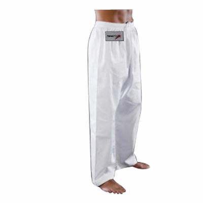 TurnerMAX Karate Trousers Martial Arts Training Pants Kung Fu White 160cm
