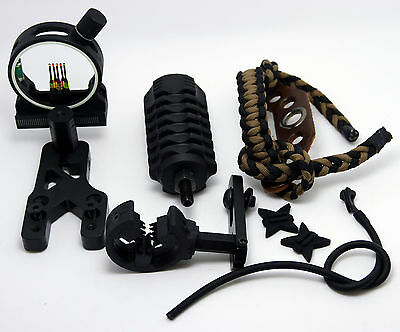 New Upgrade Kit Compound Bow - Stabilizer Fibre Optic Sight Arrow Rest Archery