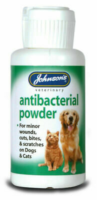 Johnsons Antibacterial Powder 20g - Wound Antiseptic Soothing Minor Cat Dog