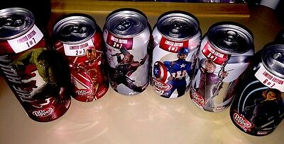 Avengers Dr Pepper Age of Ultron 2015 Limited Edition 1-6 Thor Hulk Iron Man