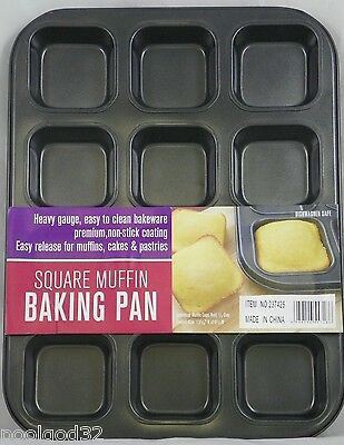 Heavy duty non stick BAKING PAN 12 SQUARE Muffin cupcake cornbread Brownie tray