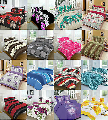 Duvet Cover Valance Sheet Pillow Case 4 Pcs Complete Quilt Cover Bedding Set