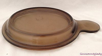 Pyrex Amber Vision Glass Lid Only P240 for 6 Inch Grab It Bowl Pan EUC FR SHP
