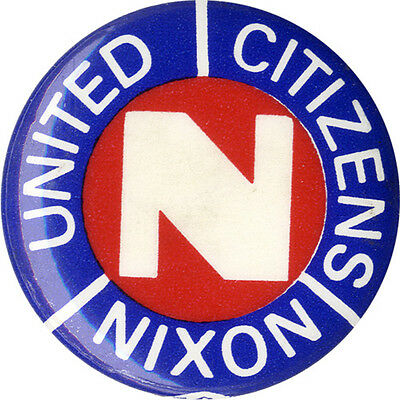1968 Campaign UNITED CITIZENS for Richard NIXON Pinback Button (3469)