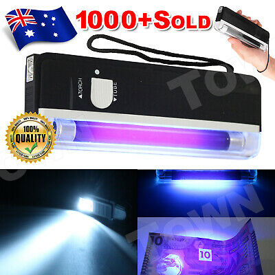 Handheld UV Black Light Torch Lamp Blacklight Party Stage Dj Pet Money Verify