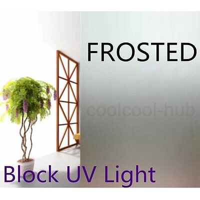50cm Home Decorative Privacy Frosted Frosting Removable Window Glass Film