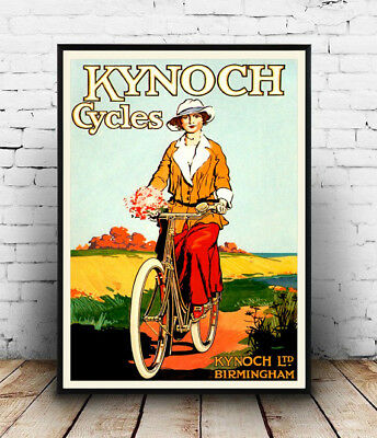 Phillips Cycles Vintage Cycle advertising poster reproduction