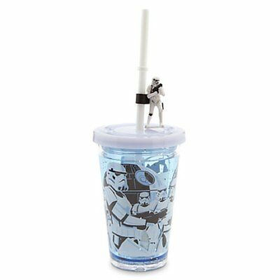 NEW Disney Star Wars Storm Trooper Cold Cup Tumbler Sippy Plastic Straw Cup